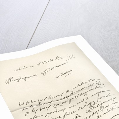 Letter from d'Artagnan to Louvois concerning a military matter, dated 1672 by French School