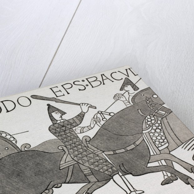 Bishop Eudes holding his Baton of Office at the Battle of Hastings by English School