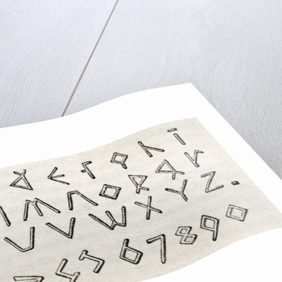 James Gall's triangular tactile alphabet and numerals for the blind by English School