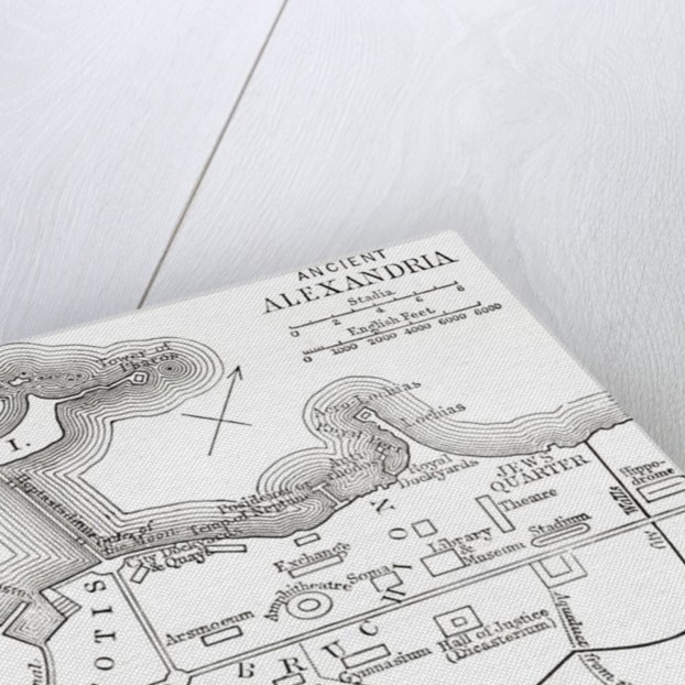 Map of ancient Alexandria, Egypt by Anonymous