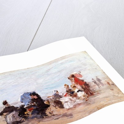 Beach near Deauville, c.1874 by Eugene Louis Boudin