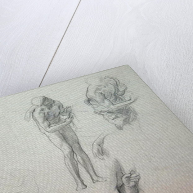 Studies for 'Daedalus and Icarus', c.1868-69 by Frederic Leighton
