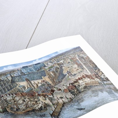 Old London Reconstructed: The Palace of Westminster about 1530 by Peter Jackson