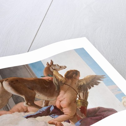 Detail of the sacrificial hind from The Sacrifice of Iphigenia by Giovanni Battista Tiepolo