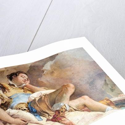 Detail of Rinaldo, from Armida Abducting the Sleeping Rinaldo by Giovanni Battista (1696-1770) Tiepolo