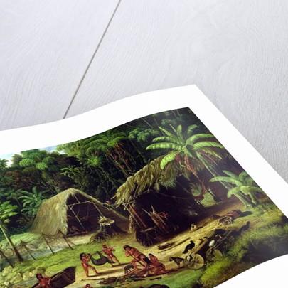 Carib Village, British Guyana, 1836 by W.S. Hedges