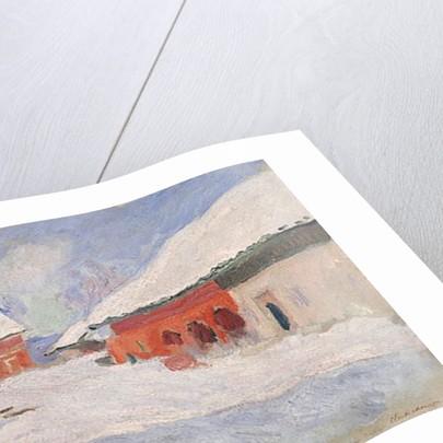 Norway, Red Houses at Bjornegaard, 1895 by Claude Monet