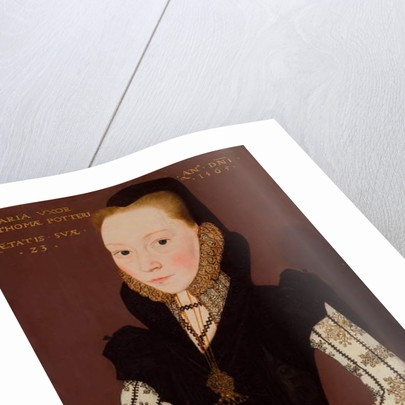 Portrait of Mary Tichborne by Master of the Countess of Warwick