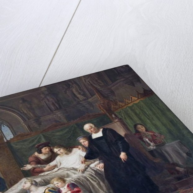 Charles VIII visiting Gian Galeazzo Sforza in Pavia Castle, 1822 by Pelagio Palagi