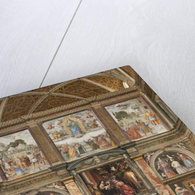 View of the frescoes with the Adoration of the Three Kings by Bernardino Luini