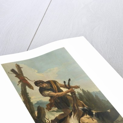 Hunter with Deer, 1718 by Giovanni Battista Tiepolo