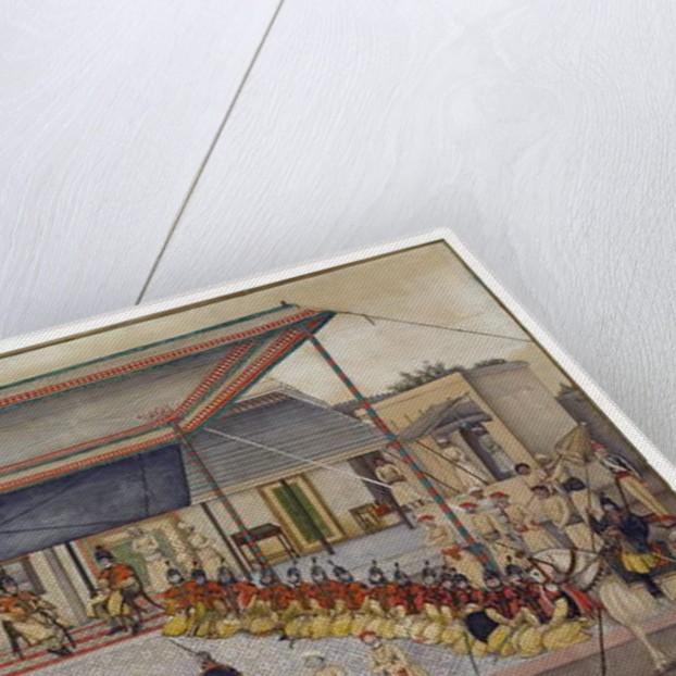 Colonel James Skinner holding a Regimental Durbar, 1827 by Ghulam Ali Khan