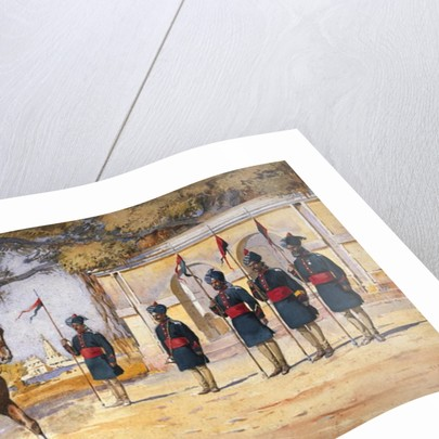 Soldiers of the 10th Duke of Cambridge's Own Lancers, 'The Quarter Guard' by Alfred Crowdy Lovett