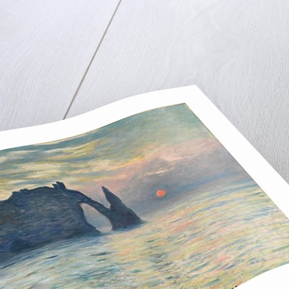The Cliff, Étretat, Sunset, 1882-1883 by Claude Monet