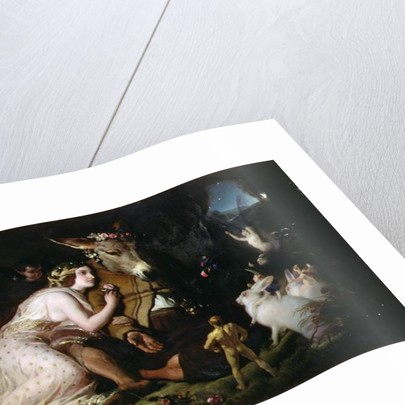 Scene from A Midsummer Night's Dream. Titania and Bottom, 1848-51 by Edwin Landseer