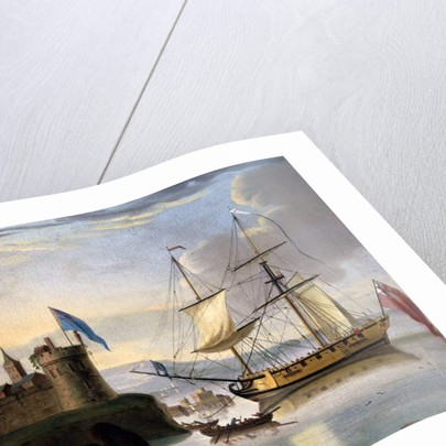 English two-masted sloop rigged as a 'Snow' by School English