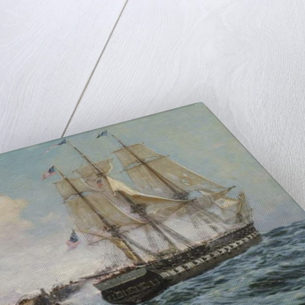 Engagement Between the U.S. Frigate Constitution and H.M.S. Java by Carlton Theodore Chapman