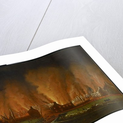 The Fire in the Saint-Jean Quarter, Seen Looking Westward, 1848 by Joseph Légaré