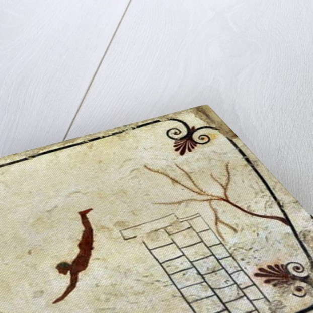 A young swimmer diving by Anonymous