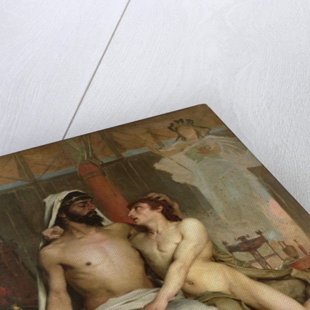 David and Saul by European School