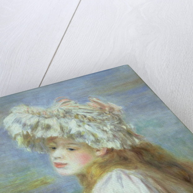 Portrait of a young woman in a lace hat, 1891 by Pierre Auguste Renoir