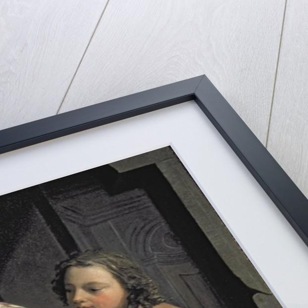 Lovers at a window by Nicolaes Verkolje