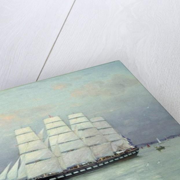 An Outward Bound Ship under Full Sail, 1882 by Eduardo de Martino