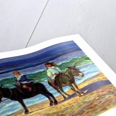 Two Children on Donkeys by Robert Tyndall