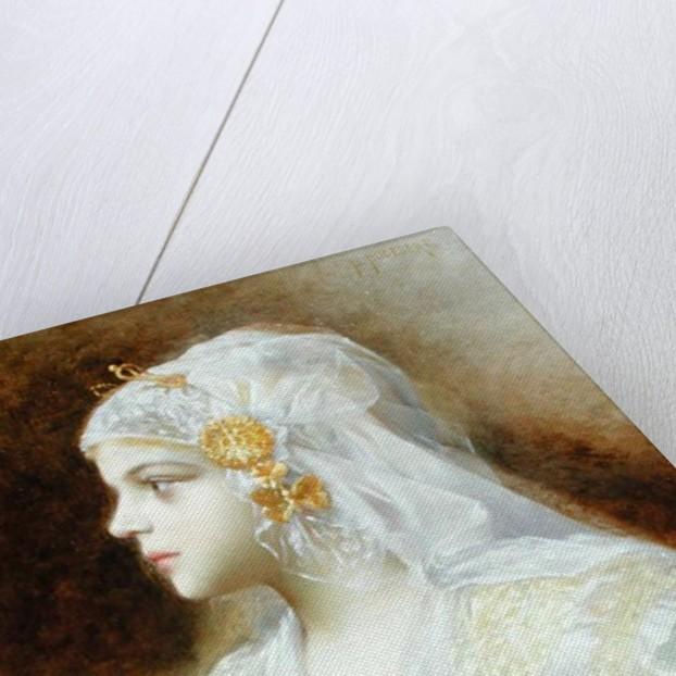 Portrait of a Girl by Leon Auguste Cesar Hodebert