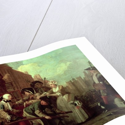 A Rake's Progress IV: The Rake Arrested, Going to Court, 1733 by William Hogarth