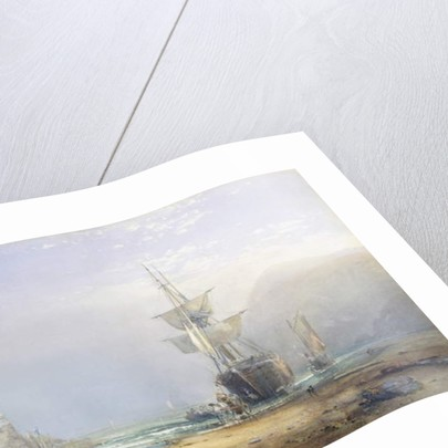 A Hazy Morning on the Coast of Devon, 1853 by Samuel Phillips Jackson