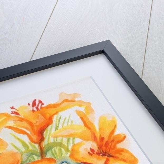 Orange Lilies,Gardenias and Carnations by Joan Thewsey