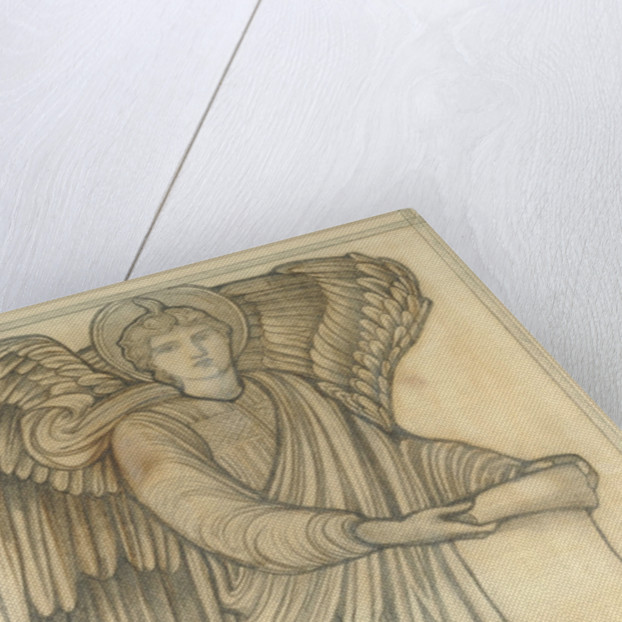 Angel with Scroll - figure number six by Sir Edward Coley Burne-Jones