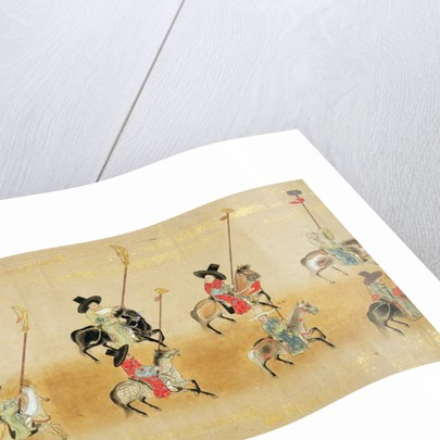 Sixth Korean Embassy to Japan in Meireki 1 at the time of Tokugawa Ietsuna's succession in 1651, possibly by Kano Masunobu by Japanese School