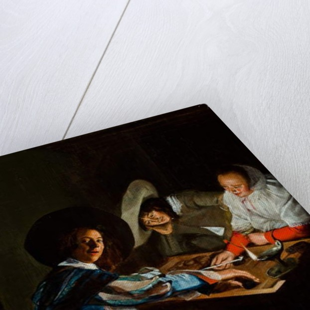 A Game of Tric-Trac, c.1630 by Judith Leyster