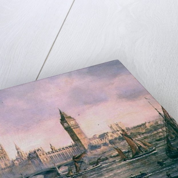 View of the Houses of Parliament from the River Thames by Richard Willis
