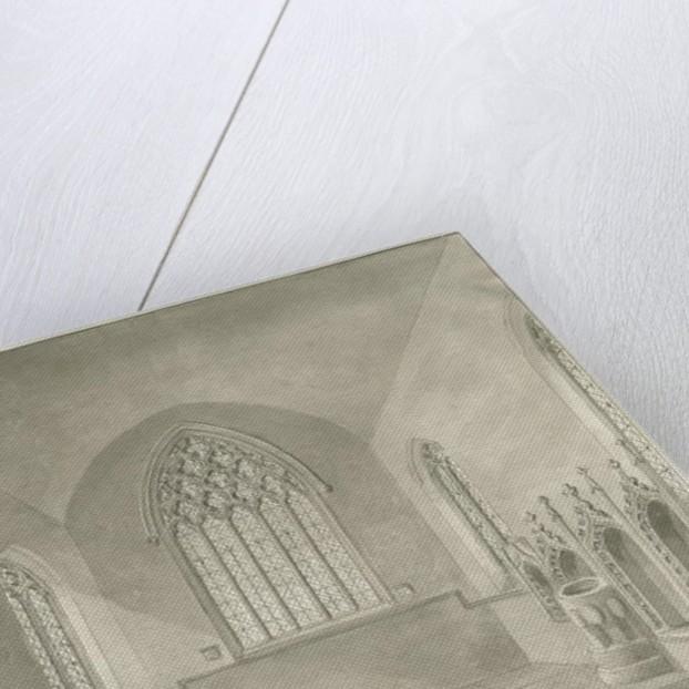 Interior of Cheddleton Church by John Buckler