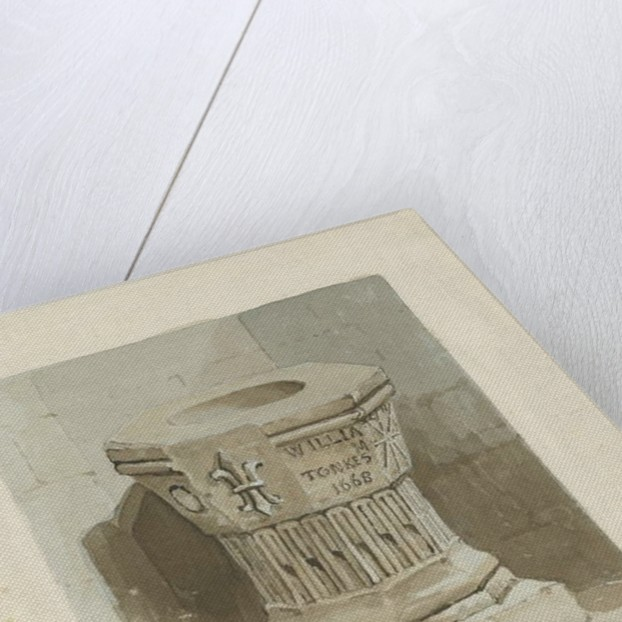 Font in Penkridge Church by Thomas Peploe Wood