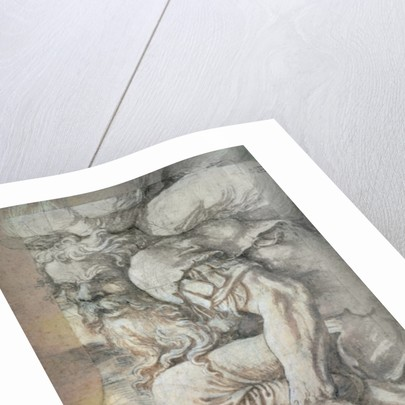Giant, sketch for the fresco of the Fall of the Giants, Palazzo del Te, Mantua by Giulio Romano