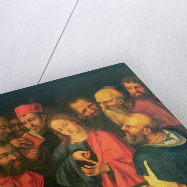 Christ, aged twelve, among the scribes by Albrecht Durer or Duerer