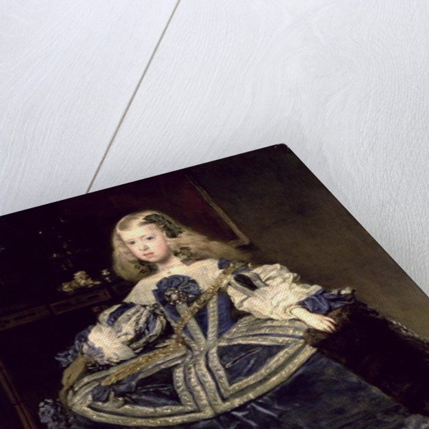 Infanta Margarita in Blue by Diego Rodriguez de Silva y Velazquez