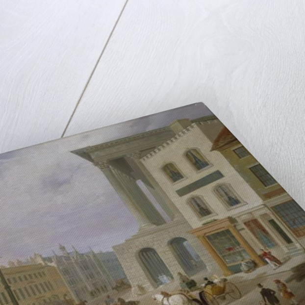 Birmingham Town Hall and Queen's College by Samuel Lines