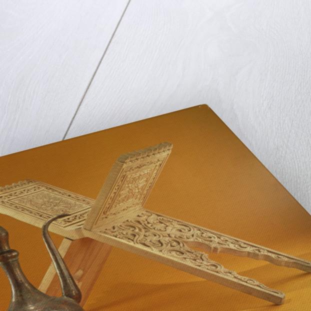 Copper Vessel and Koran Stand by Pakistani School