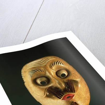 Comical Mask, Noh Theatre by Japanese School