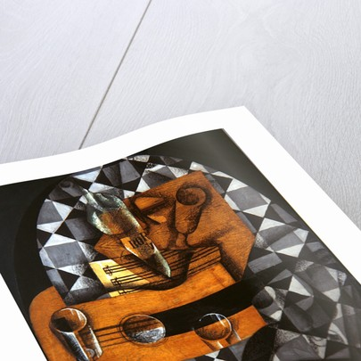 Guitar, Bottle, and Glass by Juan Gris