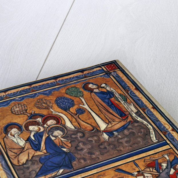 The Agony in the Garden and the Betrayal of Christ, leaf from a psalter by English School
