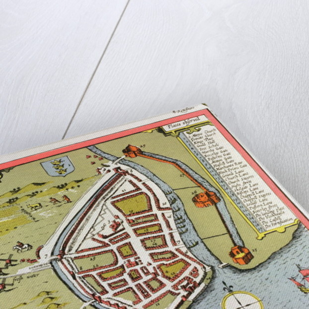 Hull, detail from the map of the North and East Ridings of Yorkshire by John Speed