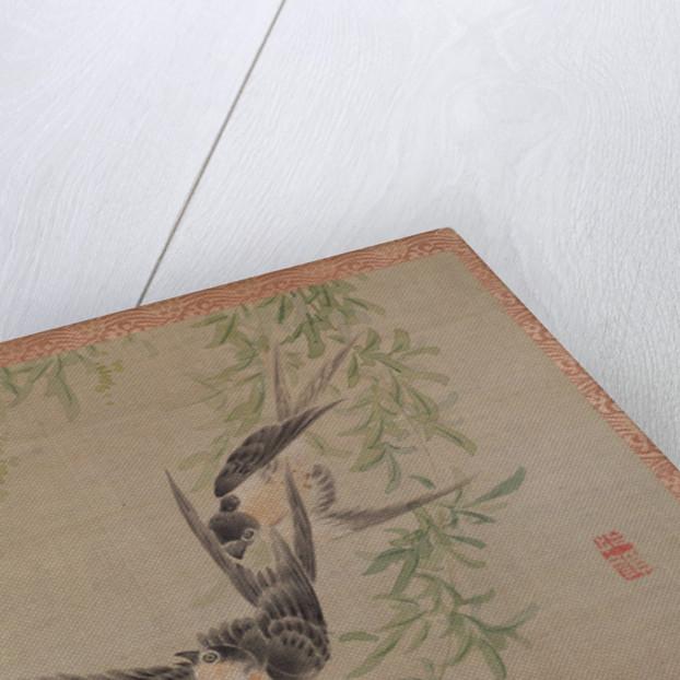 Swallows in flight, 1851 by Tsubaki Chinzan