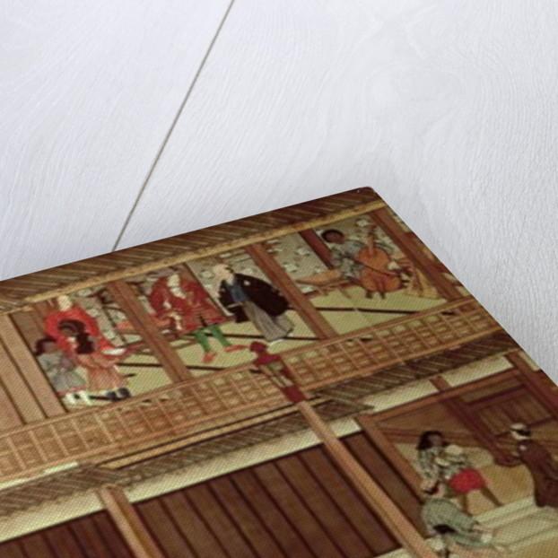 A domestic scene by Japanese School
