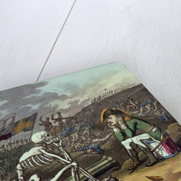 Napoleon and skeleton, 18th by Thomas Rowlandson